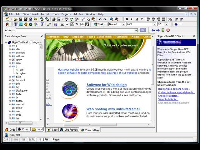 BestAddress HTML Editor 2012 Professional full screenshot