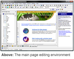 BestAddress HTML Editor main editing environment